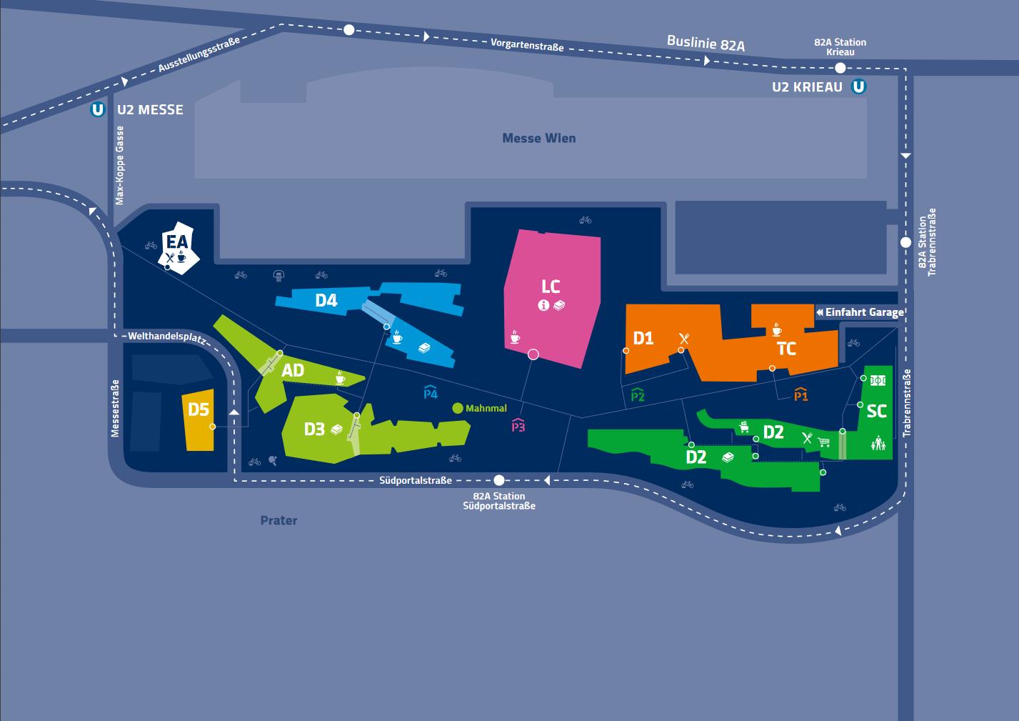 Lageplan WU Campus